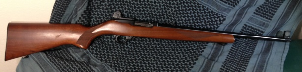 Ruger 10/22 semiautomatic .22 rifle with original wood stock